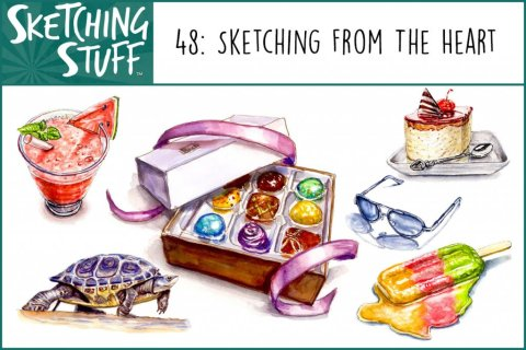 Sketching Stuff Episode 48 Album Art_Sketching From The Heart