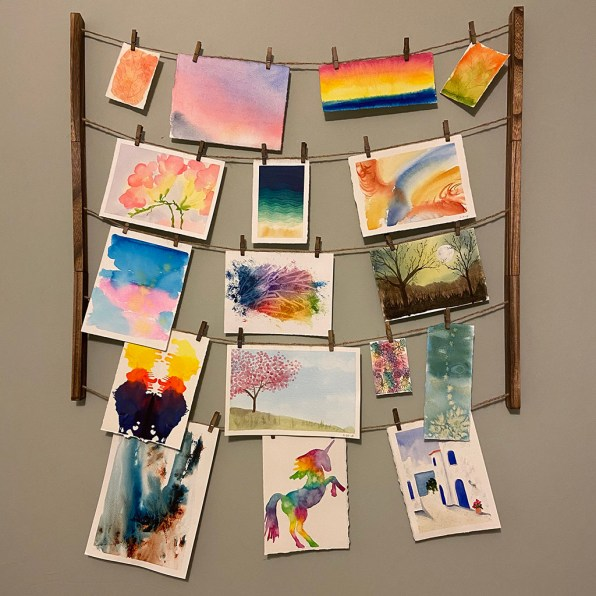 Watercolor Paintings Hanging On Wall
