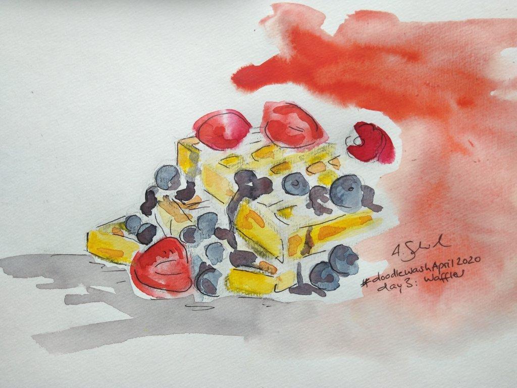 #doodlewashApril2020, day 3: waffles #doodlewashApril2020_waffles