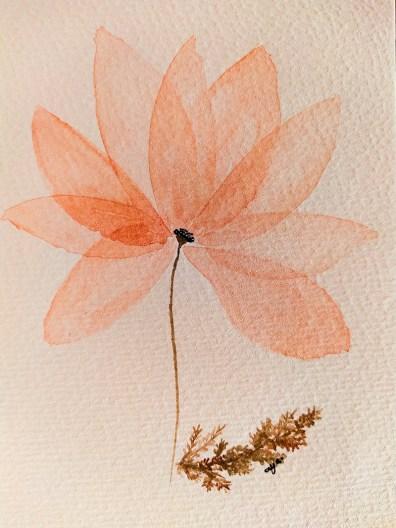 Pink Semitransparent Flower Natalia Budihardjo Gnadia Art