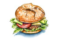 International Burger Hamburger Day Watercolor Illustration
