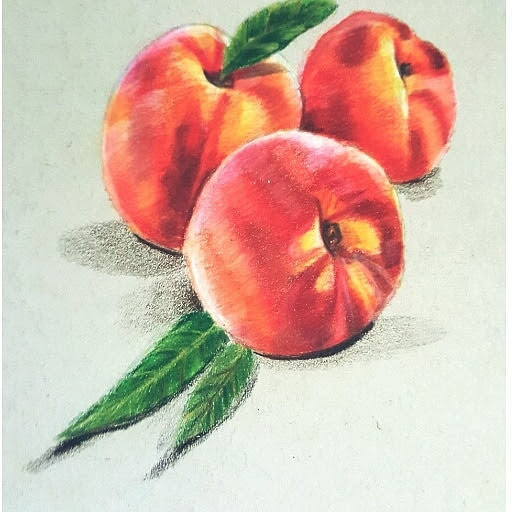 realistic peaches i made using colorpencils IMG_20200501_091228_803