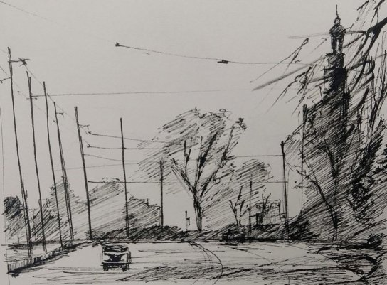 Sketch Street Scene