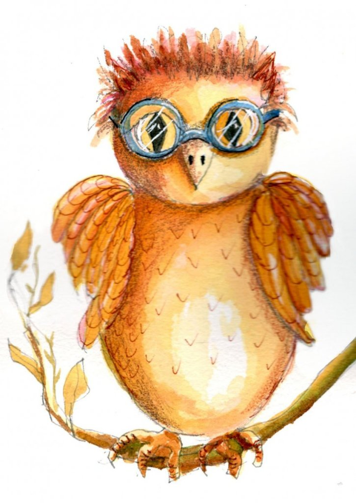 6/29/20 Owl. Inspired by Sketchbook Revival and Tamara LaPorte's Quirky Birds. 6.29.20 Owl img