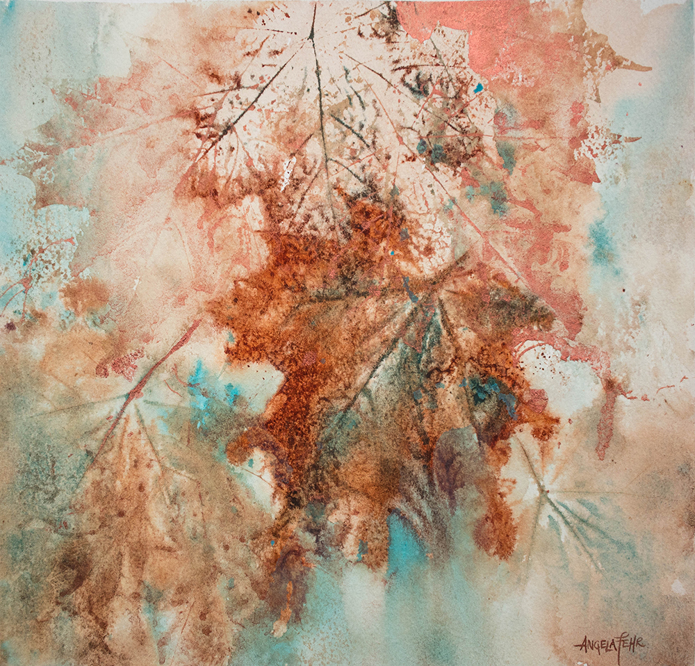 Abstract Leaves Painting by Angela Fehr