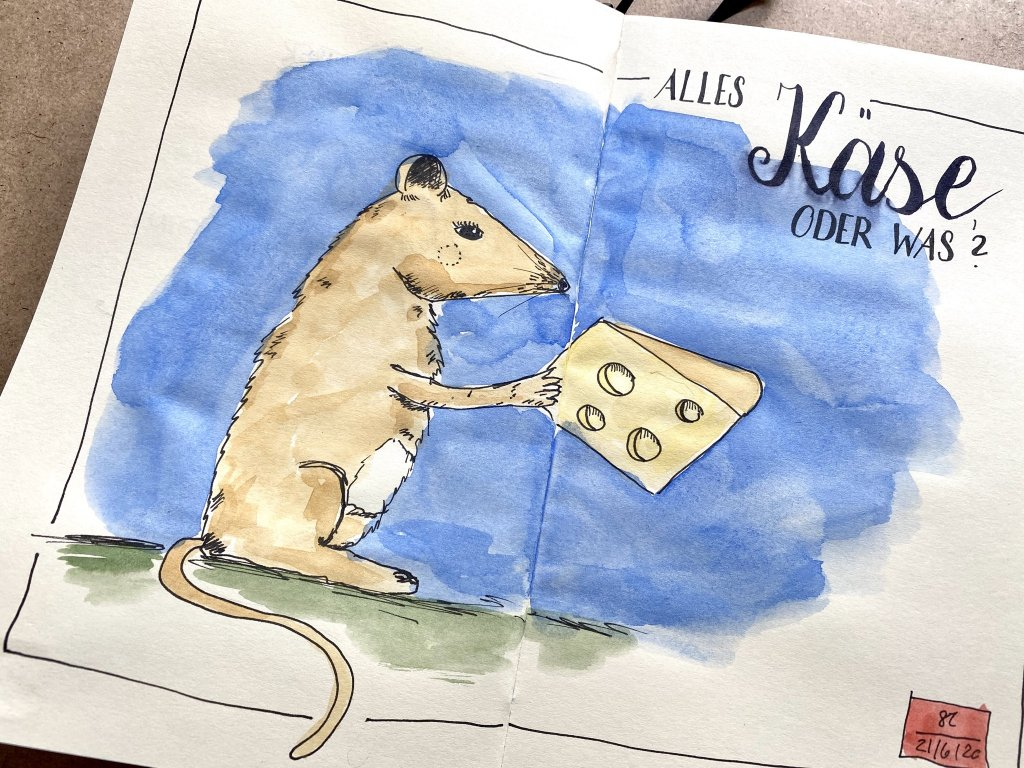 For today's topic: Cheese. The mouse seems to enjoy it. E874E079-F145-4DD0-BBC1-066D6976B6D9