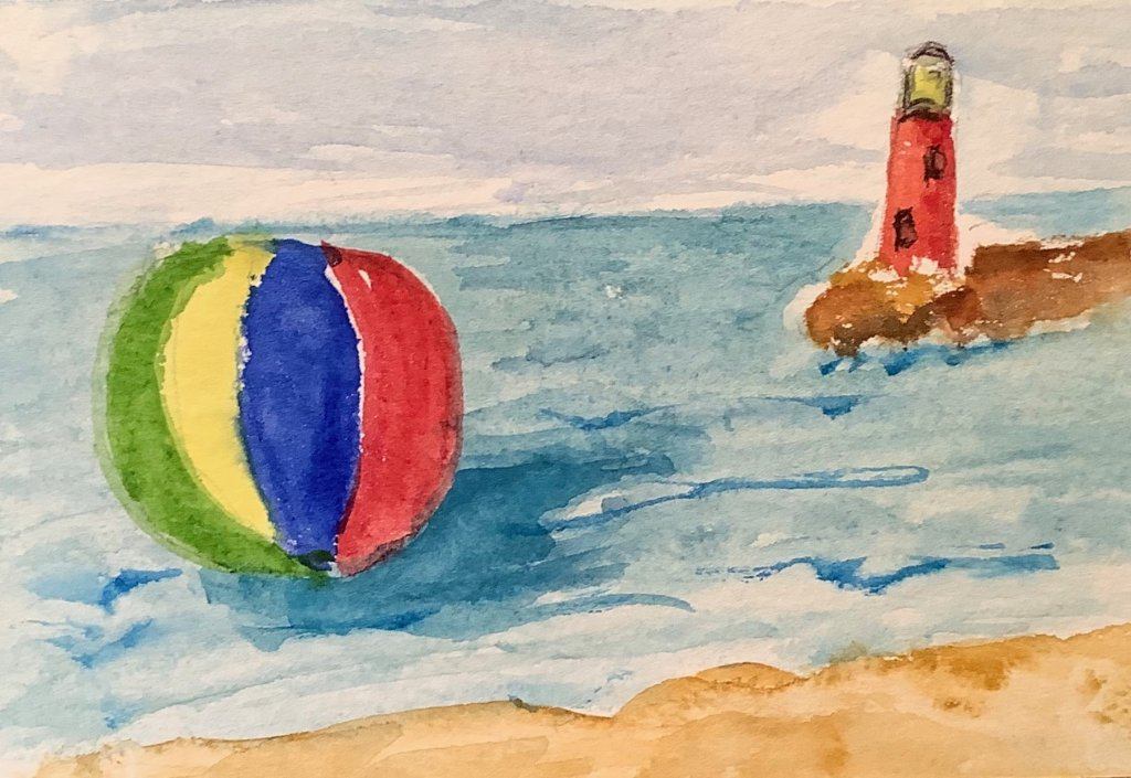 #doodlewashjune2020 day 3 beach ball IMG_1906