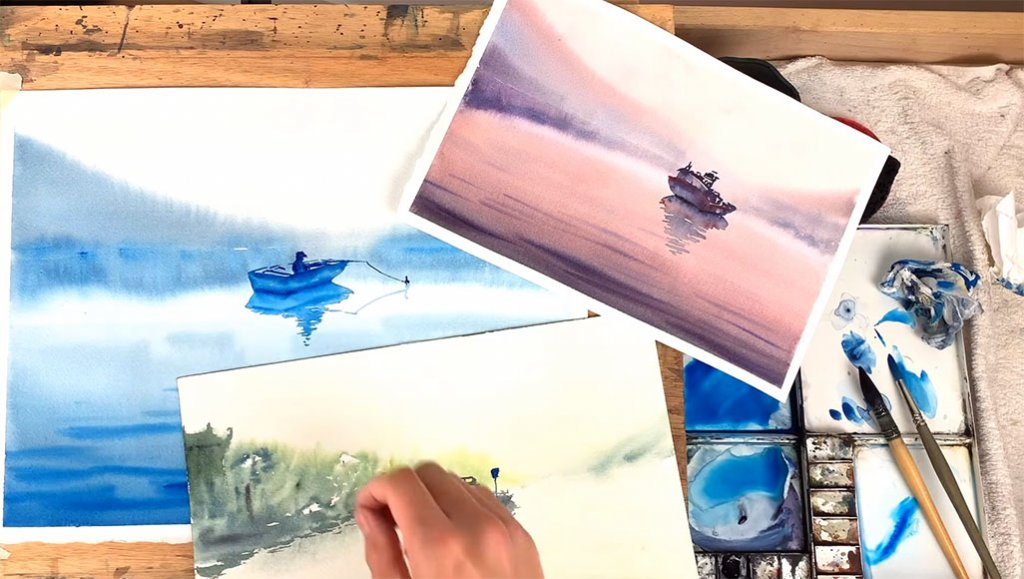 Various examples of How To Paint A Watercolor Landscape