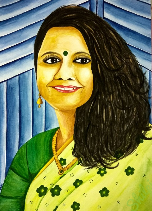 Indian Woman Watercolor Portrait by Shilpi Gupta