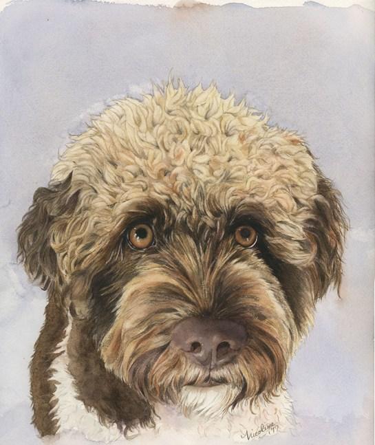 Nicoline Mann Art Leo Portrait Of A Dog
