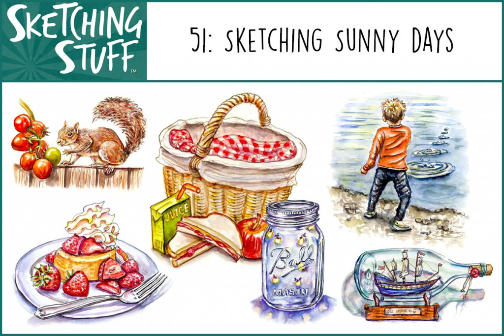 Sketching Stuff Podcast Episode 51_Sketching Sunny Days Album Art
