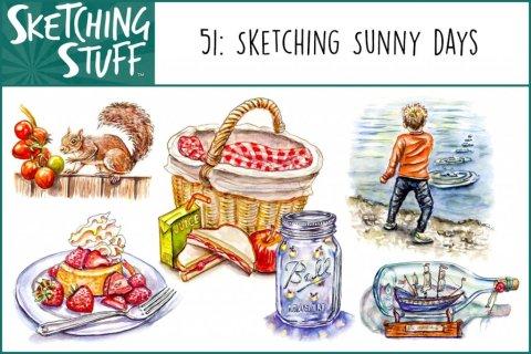 Sketching Stuff Podcast Episode 51_Sketching Sunny Days Album Art