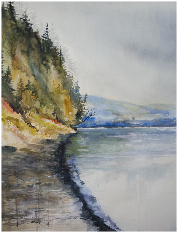 Watercolor Painting DO OVER approach second example Angela Fehr