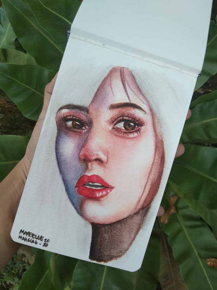 Hi! I made this watercolor painting yesterday but unfortunately, my camera didn't work well. I