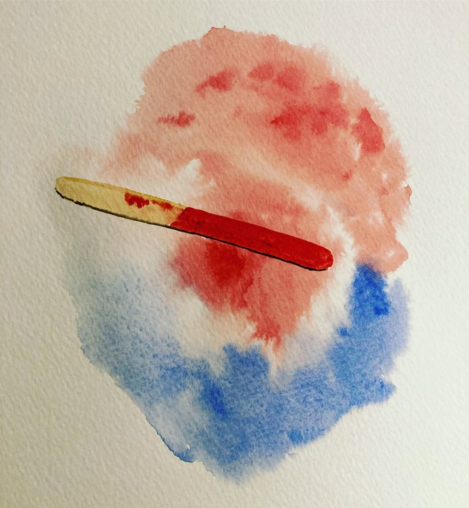 Do Over – I went to redo the popsicle I painted earlier in the month, and…we'll…