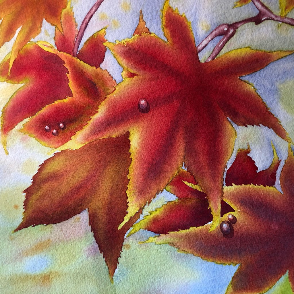 """Day 8: Today's challenge to paint """"FALL"""" 750F7AC4-3C4E-4DC0-B51E-56DD2E31AAF7"""