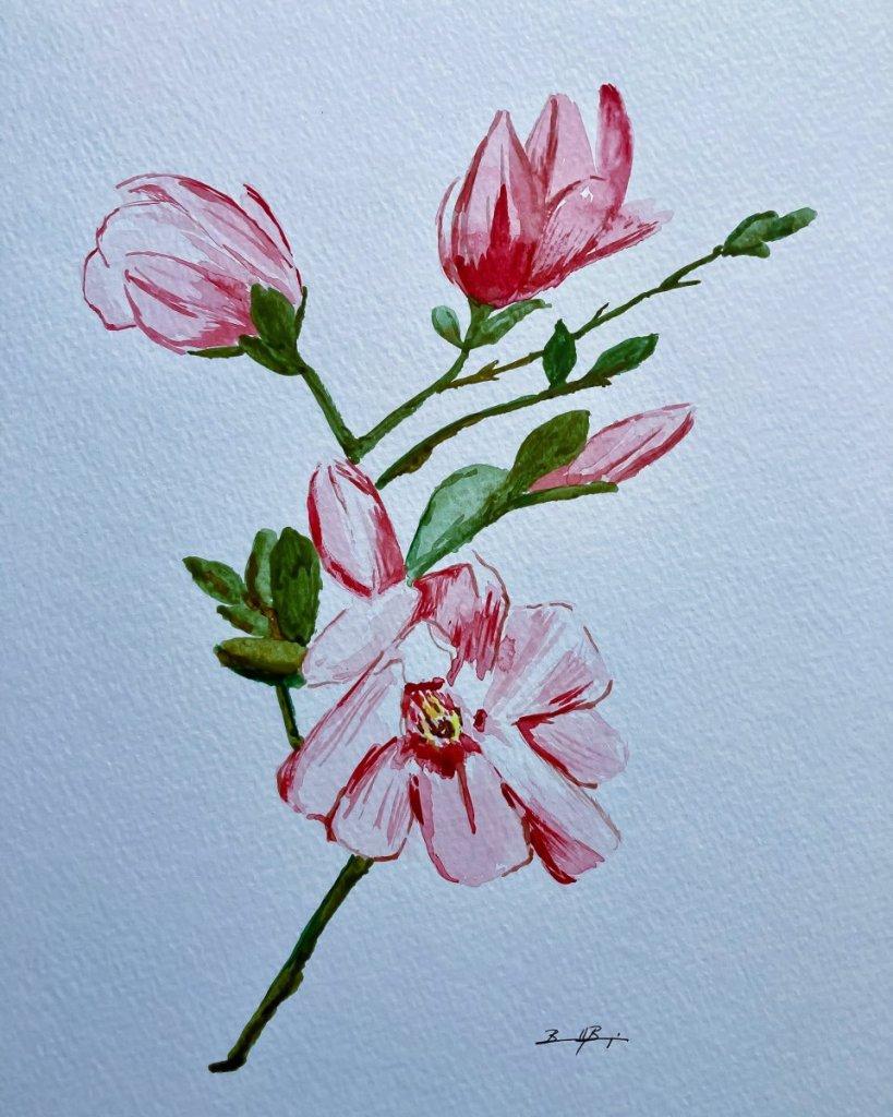 Joyful – Going back to watercolor, and I find flowers joyful. F1394E7C-9277-4C16-B8E1-A8A937CD