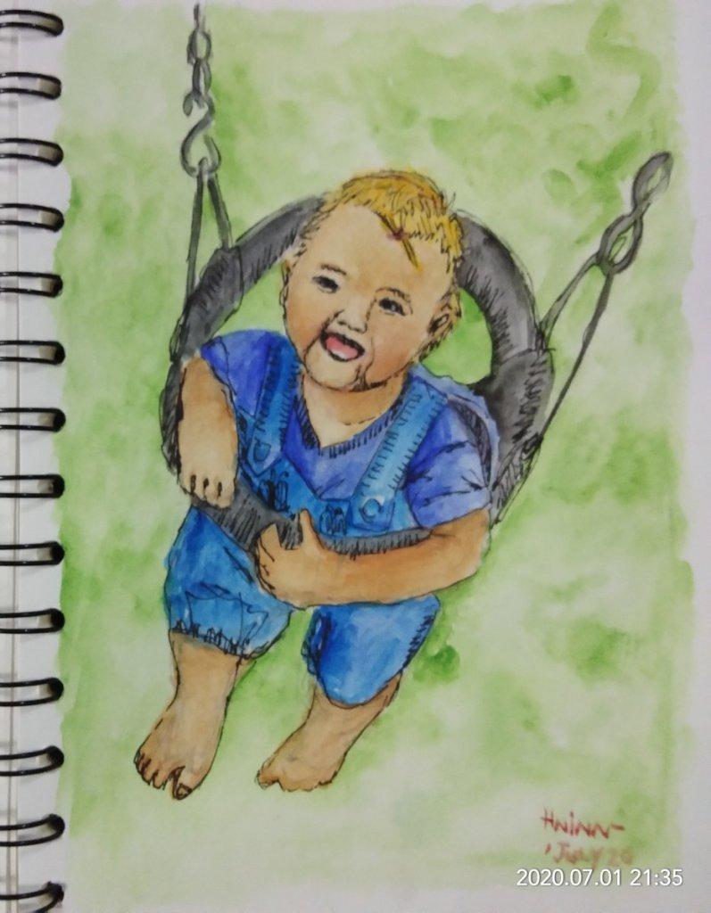 #doodlewashJuly2020 #WorldWatercolorGroup #Beginner #1 #rejoice #1july2020 Hello everybody…. I