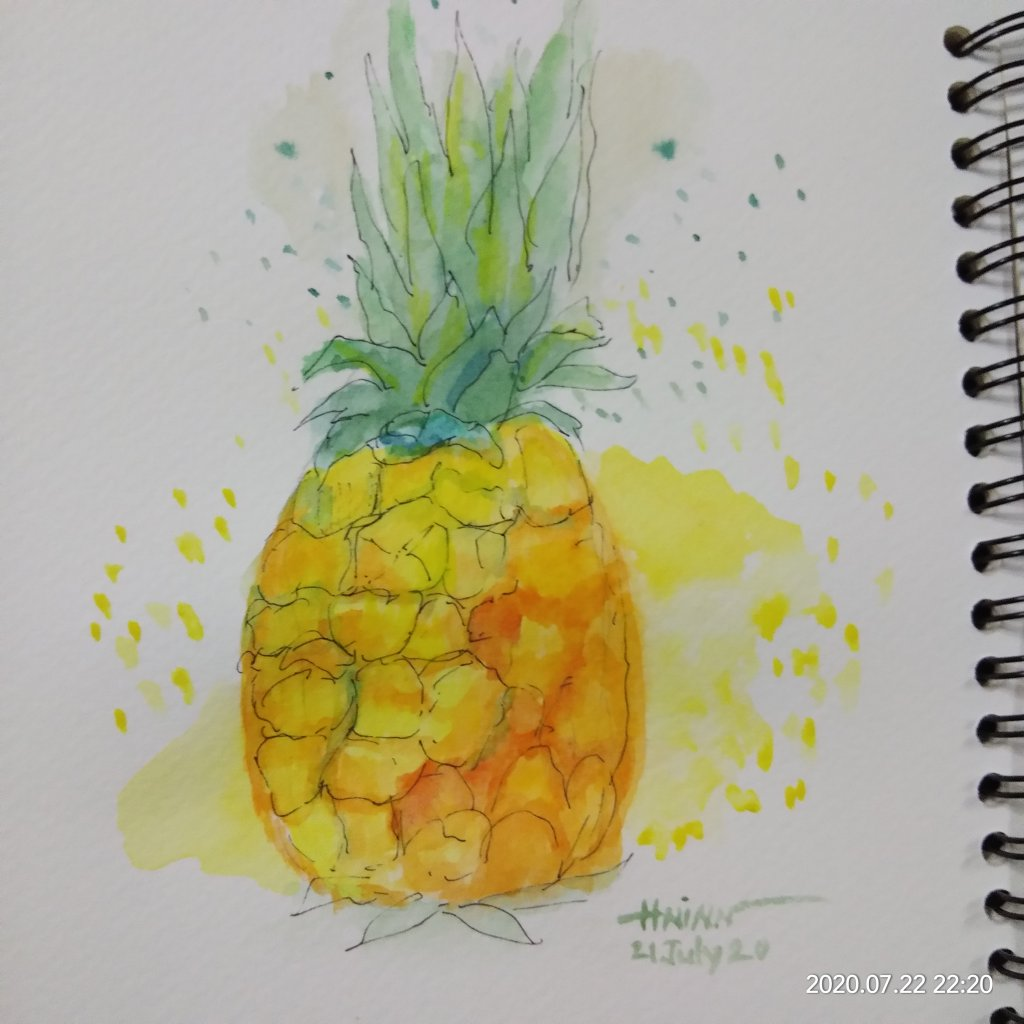 #doodlewashJuly2020 #worldwatercolormonth2020 #beginner #21 #organic #21july2020 Today prompt \&#821