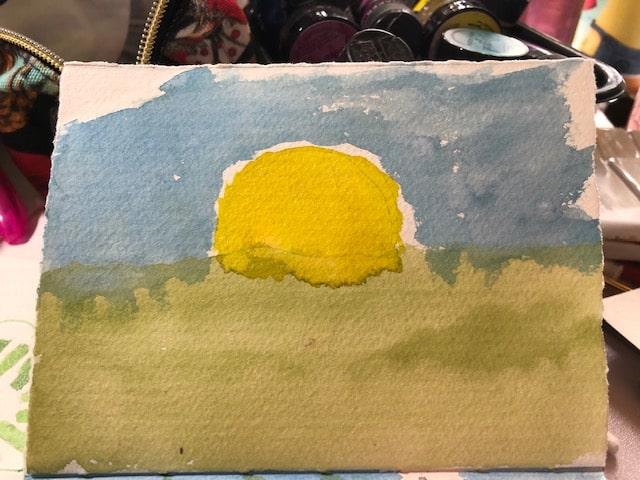 Good morning sunshine #worldwatercolormonth #world watercolormonth2020 IMG_5289