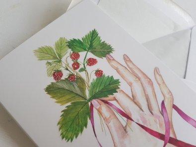Leaves and Hand Watercolor by Jitka Zajíčková