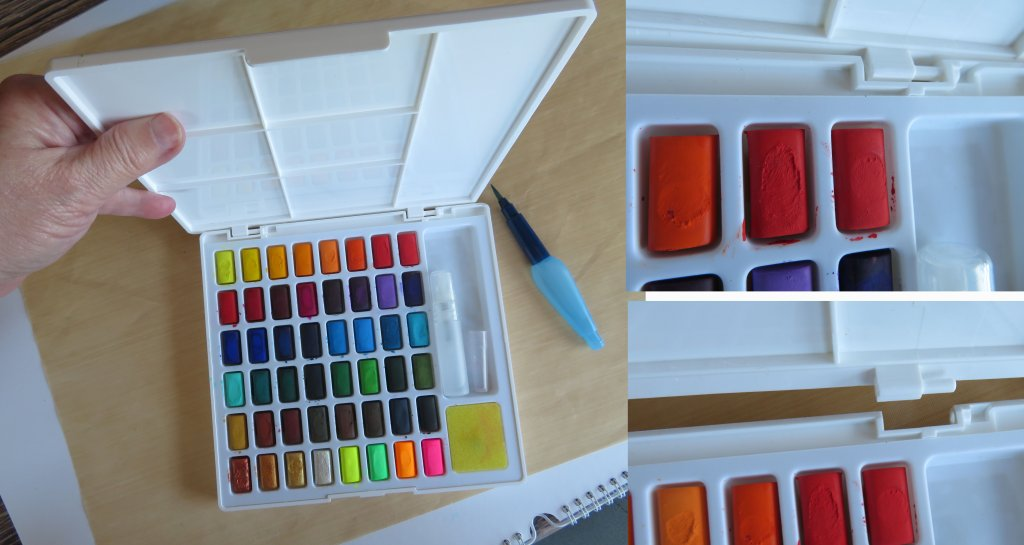 Creative Studio Watercolor Set Interior and Close-up Faber-Castell