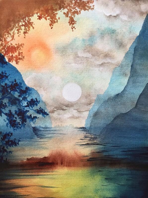 Watercolor Landscape by Michelle Gonzalez