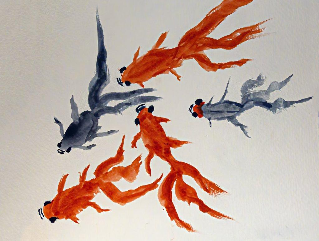 """World Watercolor Month Prompt """"Flow"""" flow1a_6Jul20_blog"""