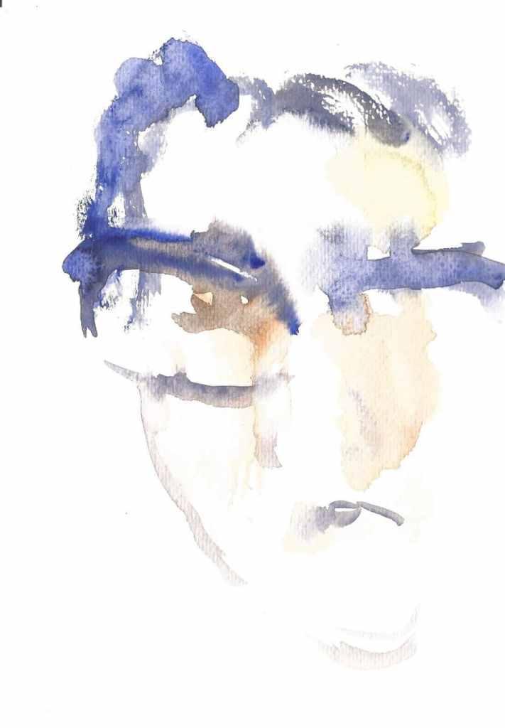 Portrait of artist, watercolor, small size, 2019 r 29(1)_15x21_2020