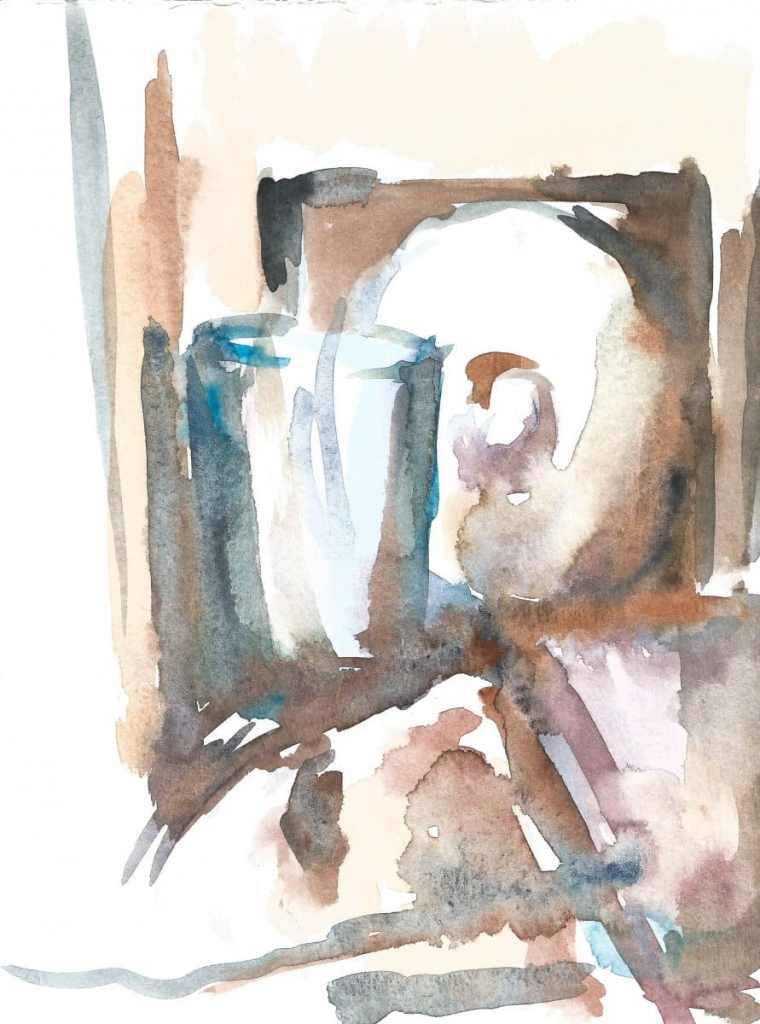 Still life, watercolor, small size, 2019 r 30(1)_18x24_2020