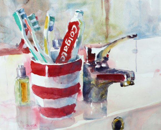 COLGATE Watercolour Painting