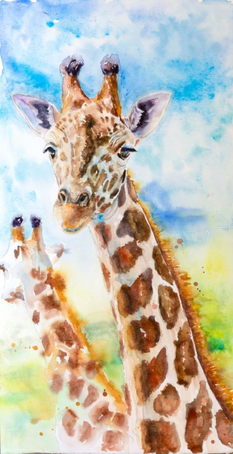 Giraffe Gentle Rains