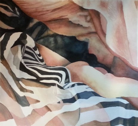 Scarf watercolor painting by Gail Juszczak