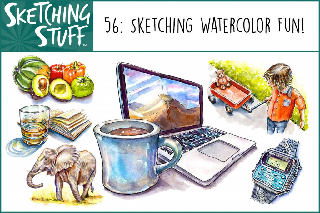 Sketching Stuff Podcast Episode 56_Sketching Watercolor Fun Album Art