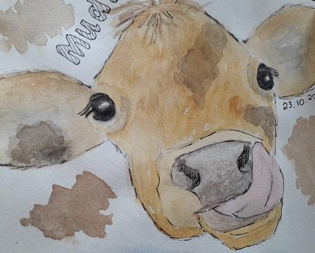 Calves and mud, need I say more? b