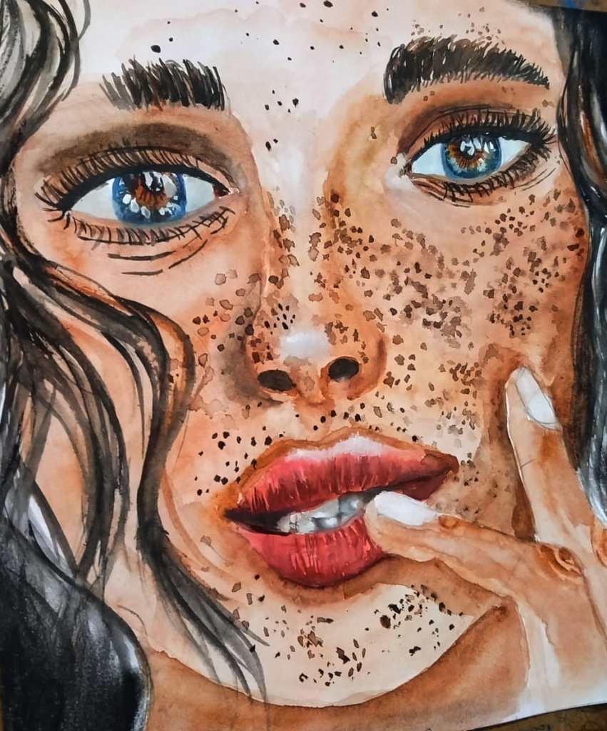 Portrait in watercolour…. IMG-20200913-WA0006