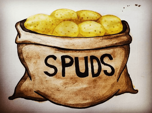 Watercolor May 2020 Spuds
