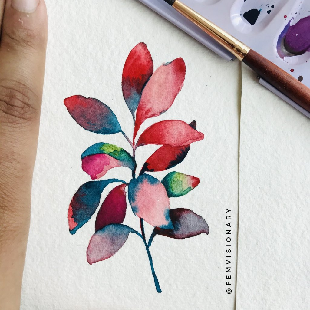 Watercolor blending is one of my favorite topics!! 3 2