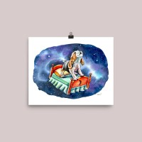 Galaxy-Sky-Dreams-Beagle-On-Bed-Watercolor-Illustration-Painting_Signed_mockup_Transparent_Transparent_8x10 Watercolor Print