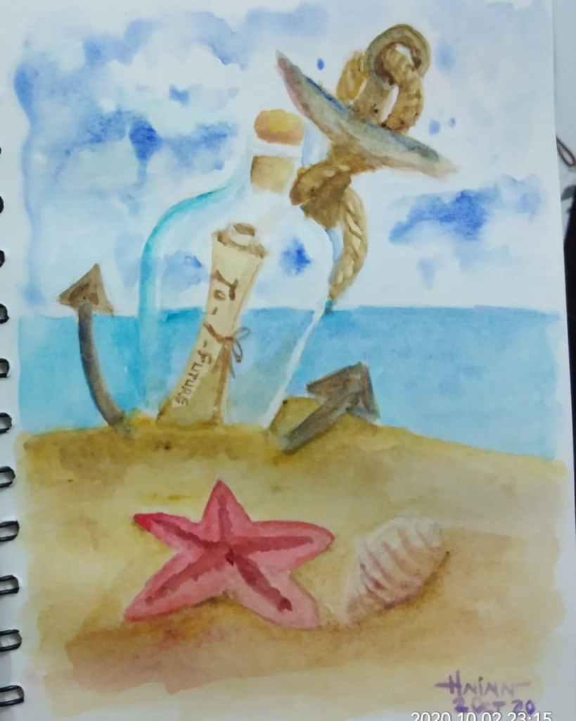 #doodlewashoctober2020 #beginner #2 #message #2oct2020 IMG_20201003_000549_156
