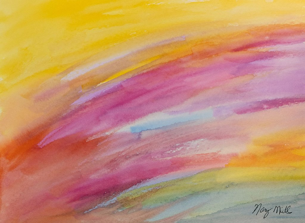 Joy To Love Watercolor Painting Abstract