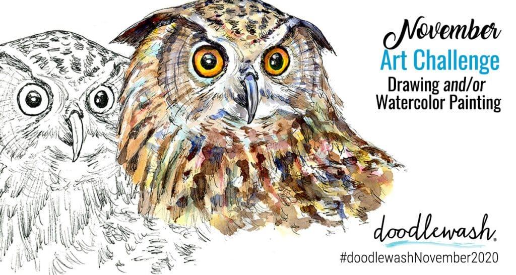 November 2020 Doodlewash Drawing Painting Challenge