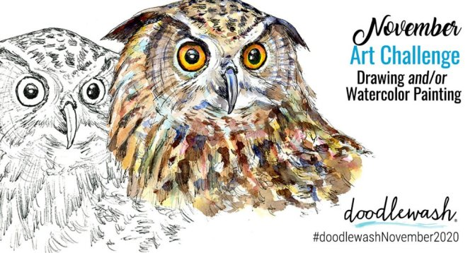 November 2020 Doodlewash Drawing Painting Challenge