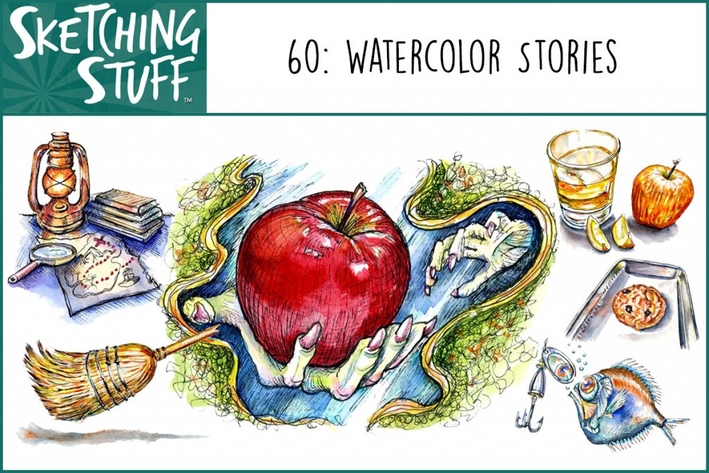 Sketching Stuff Episode 60 Album Art_Watercolor Stories