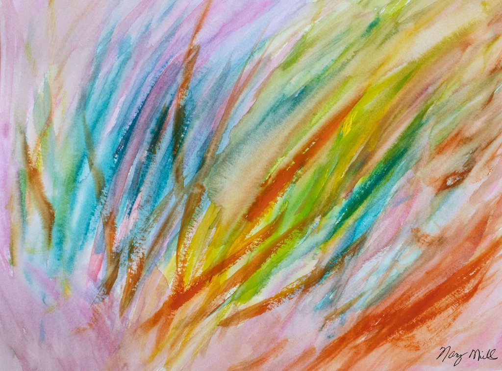 The Seeing Eye Abstract Watercolor Painting by Nancy Mills