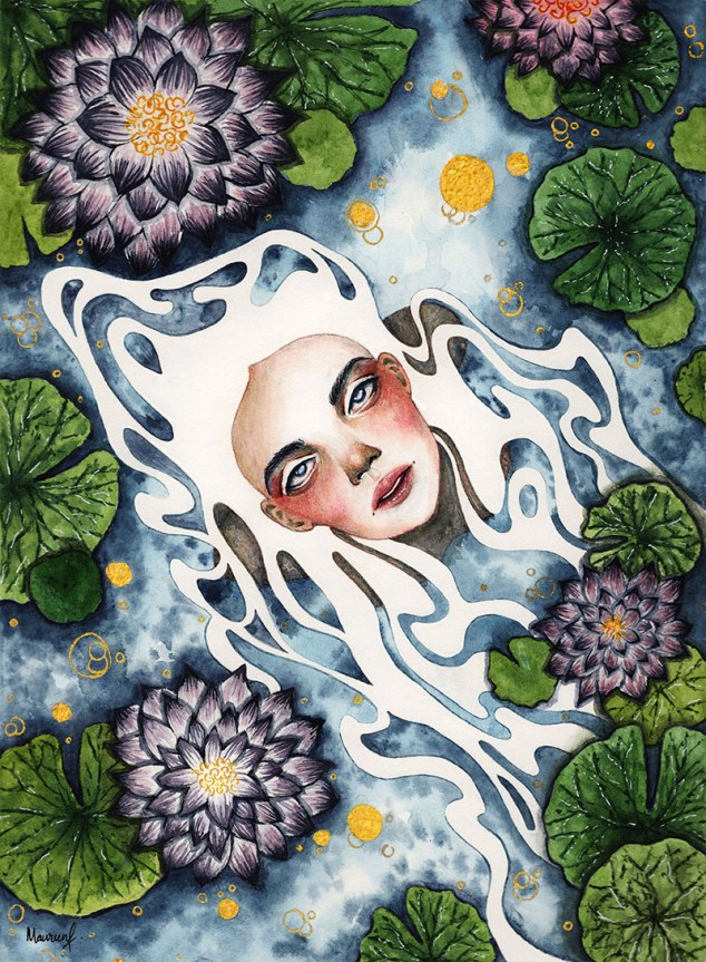 Water Spirit Watercolor Painting
