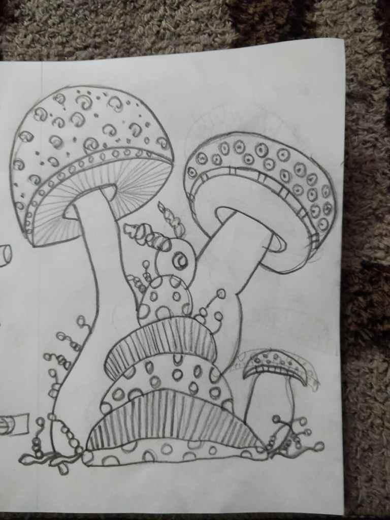 By: Balvishist Prompt MUSHROOM… Day3 #doodlewashNovember2020IMG_20201104_205222