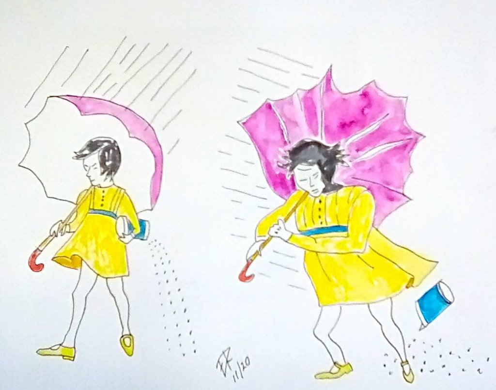 "Today's challenge ""umbrella"" . When I think of umbrella,the Morton's salt gi"