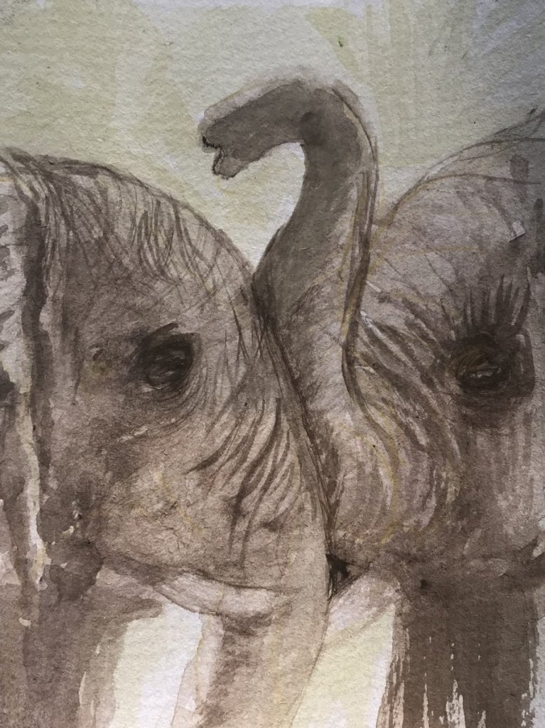 this was done as a gift , love elephants 3CE36E20-213F-455E-8063-72E2F39B78EC_1_201_a