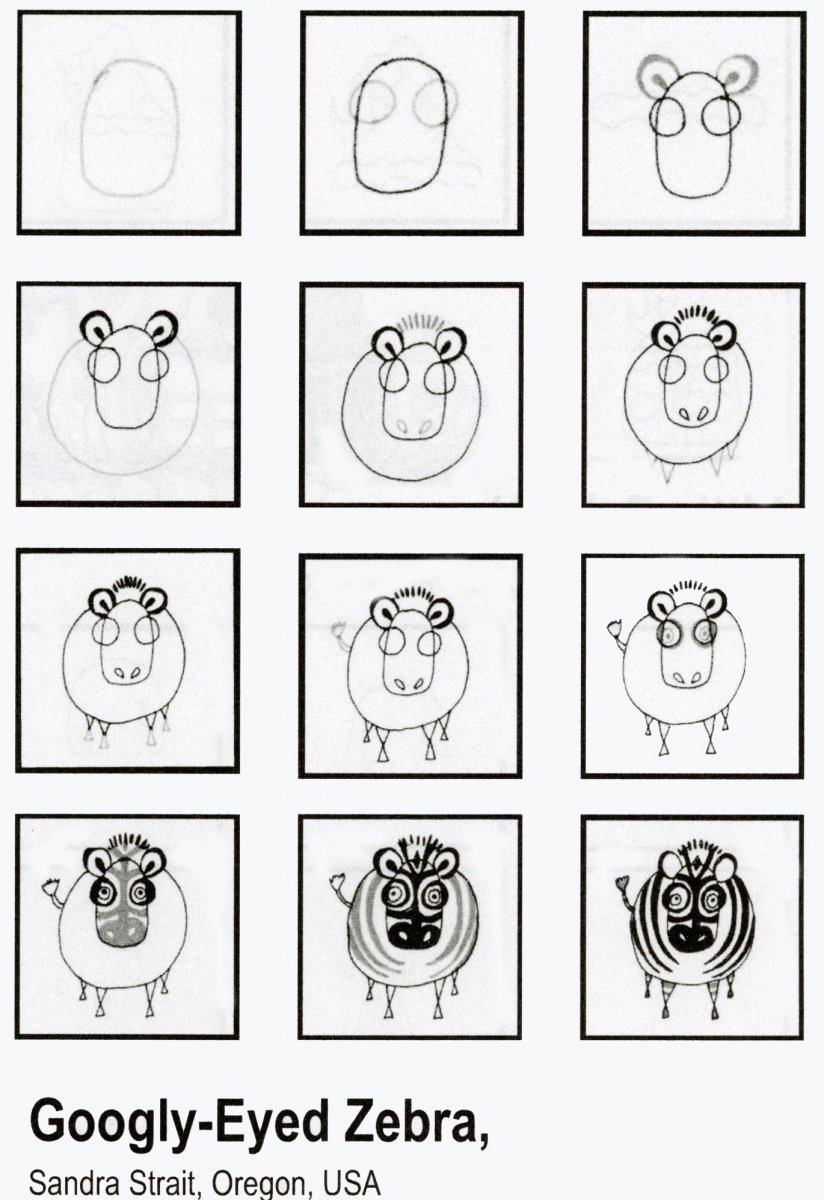 Zebra Tangle Pattern Example Sandra Strait